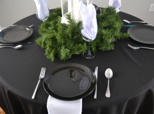 Banquet Table - Round/Black