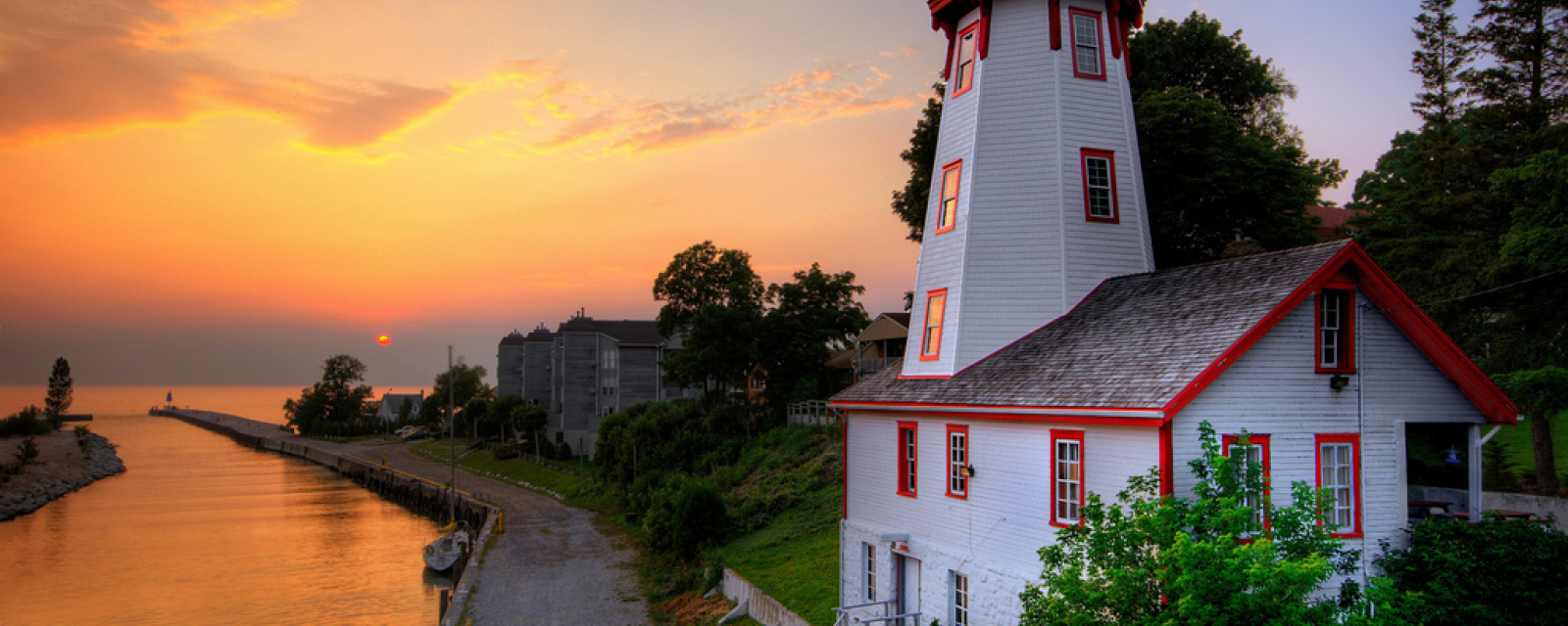 Kincardine Light house with Sunset