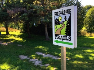 Part of Kincardine trail system