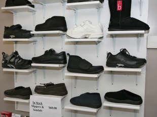 Selection of orthotice footwear